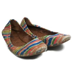 8M Lucky Brand Multicolor Slip On Flats Shoes